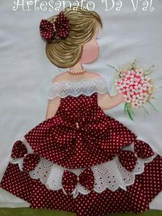 My Sunbonnet girls. Applique Patterns, Applique Quilts, Applique Designs, Quilt Patterns, Embroidery Designs, Ribbon Embroidery, Embroidery Stitches, Sunbonnet Sue, Girls Quilts