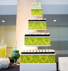A Cupcake Cake! ~ Coordination by Mint Julep Social Events.