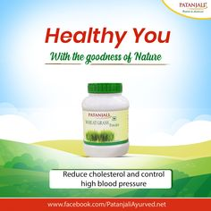 Healthy You with the power of Nature!! Patanjali Wheat Grass Powder is made from hygienically harvested dried wheat grass. It is a natural supplement with no added color. It helps to reduce cholesterol and control high blood pressure. #PatanjaliProducts #AyurvedaLifestyle #WheatGrass - Patanjali Products  IMAGES, GIF, ANIMATED GIF, WALLPAPER, STICKER FOR WHATSAPP & FACEBOOK