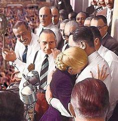 Abrazo entre Eva y Perón el 17 de octubre del '51 después de que ella se despidiera de los descamisados