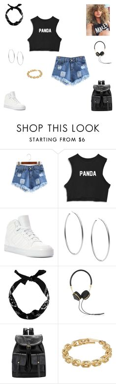 """""""panda"""" by synclairel ❤ liked on Polyvore featuring adidas, Michael Kors, New Look, Frends, Calvin Klein, Summer, cute, casual and ootd"""