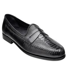 Crafted from genuine #ostrich #skin, these exotic #loafers in black from the house of Belvedere collection will let you grab plenty of compliments.
