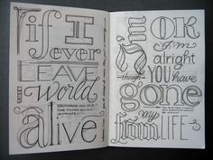 typography//Totally dumb, but I just realized that you can start in pencil and then add the rest.  Duh.