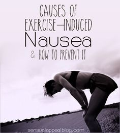 Causes of exercise-induced nausea and how to avoid it
