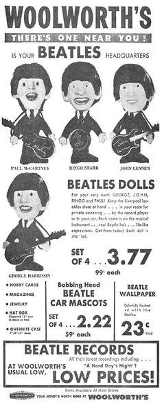 remco Beatles dolls