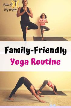 Family-Friendly Yoga Routine - Check out this family friendly yoga routine. Fun yoga poses for children to help them unwind and take brain breaks. This article has pictures to help your kids learn the moves easier. Perfect for beginners and kids to ease into yoga. #yogawithkids #familyfriendlyyoga #kidyogaposes #beginneryoga #freeprintableexercise<br> Kids Yoga Poses, Cool Yoga Poses, Yoga For Kids, Gym Workout For Beginners, Yoga For Beginners, Fitness Tips, Fitness Motivation, Fitness Routines, Gym Routine