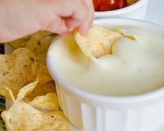 white cheese dip like they serve in Mexican restaurants
