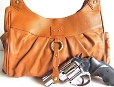 #99 Tan Locking Concealment/Concealed Carry Gun/Pistol Holster CCW Purse~Handbag