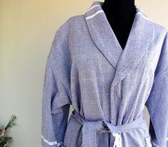BATHROBE  Natural Cotton Robe Turkish Bath Robe by loovee on Etsy, $50.00