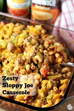 Zesty sloppy joe casserole by renee s kitchen adventures easy recipe for a spicy sloppy joe casserole perfect for weeknight dinner! yesyoucan ad breakfast casserole with sausage eggs spinach and mushrooms Beef Dishes, Pasta Dishes, Food Dishes, Main Dishes, Casserole Dishes, Casserole Recipes, Casserole Kitchen, Noodle Casserole, Chicken Casserole