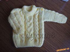 Pletený svetr pro mimča velikost 68