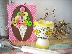 button ice cream cones