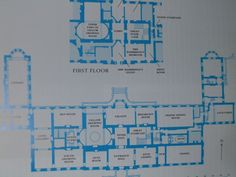 Wimpole Hall. Plan of the ground floor and part of the first floor. Last owned by Elsie Bambridge, late daughter of Rudyard Kipling, the house was originally built in 1650 for Sir Thomas Chicheley, Master-General of the Ordnanc under Charles II. It is thus a Carolingian house and shows attributes of growing popularity in that period, including the plainface brick facade resembling Kew and Kensington Palaces.
