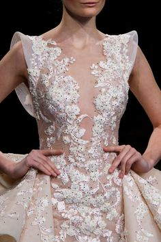 Ziad Nakad at Couture Spring 2017 - Details Runway Photos Stunning Wedding Dresses, Beautiful Gowns, Wedding Gowns, Baby Dress Design, Haute Couture Dresses, Couture Details, Gowns Of Elegance, Bridal Dresses, Designer Dresses