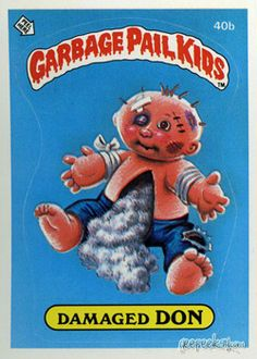 GARBAGE PAIL KIDS - Original Series 1 Card Collection — GeekTyrant Garbage Pail Kids Cards, Kids Series, Kids Stickers, 90s Kids, Kids Toys, Patch Kids, Kids Board, Kids Corner, Classic Toys