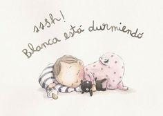 Erase una vez… es la empresa que ha creado Rocío, una ilustradora catalana que pinta gran parte de sus creaciones directamente sobre la pared de la habitación del bebé. Creando espacios únicos e irrepetibles llenos de ternura y encanto gracias al trazo suave de sus dibujos y acabados acuartelados. Dispone de una colección de murales … Children's Book Illustration, Character Illustration, Watercolor Illustration, Baby Decor, Kids Decor, Baby Drawing, Baby Art, Cute Images, Cute Cartoon