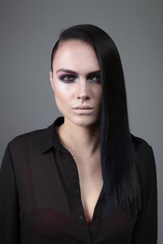 The expensive goth hair look by our ID Artist's, art directed by Brooks and Brooks, from L'Oréal Colour Trophy Regional Tour 2015.
