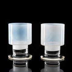 KAJ FRANCK - Glass goblets for Nuutajärvi Notsjö, Finland. [h. 11 cm] Nordic Design, Scandinavian Design, Glass Design, Design Art, Lassi, Ceramic Pottery, Glass Art, Perfume Bottles, Clay