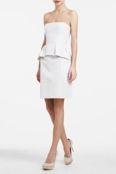 fitted short white dress