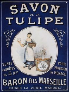 Savon De La Tulipe Tin Sign at AllPosters.com