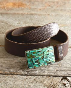 Streets Ahead Turquoise & Leather Belt
