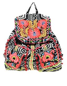 Enlarge ASOS Floral Weave Backpack >> WANT!!!