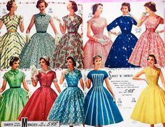 "BunnySlippersVintage on Instagram: ""Aldens Spring and Summer Catalog 1956 . . . . . #1950sdress #1950sdresses #50sdress #vintageootd #vintagestyle #truevintage #vintageootd…"" 1950s Fashion Women, Vintage Fashion, Womens Fashion, 50s Dresses, Formal Dresses, Fashion Catalogue, Vintage Advertisements, Vintage Outfits, Nifty"