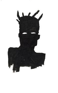 """"""" JEAN-MICHEL BASQUIAT // Transparent // Self-Portrait, 1983 """""""