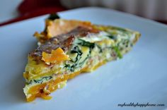 Whole30 and Paleo approved Breakfast Quiche that can be made ahead! (Butternut Squash and Bacon)