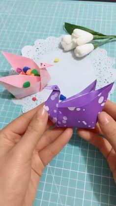 Diy Crafts Hacks, Diy Crafts For Gifts, Diy Crafts Videos, Creative Crafts, Crafts For Kids, Diys, Cool Paper Crafts, Paper Crafts Origami, Instruções Origami