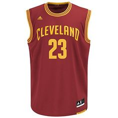 NBA Cleveland Cavaliers LeBron James Men s Replica Jersey Adidas and NBA  logo s Revolution 30 style jersey Officially Licensed Made by Adidas  Screenprinted ... a82e7494a