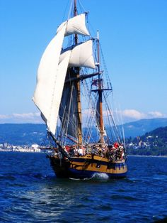 Hawaiian Chieftain in Bellingham Bay. #travel #sailing #Seattle http://historicalseaport.org/