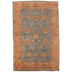 Antique Oushak Carpet  | From a unique collection of antique and modern turkish rugs at http://www.1stdibs.com/furniture/rugs-carpets/turkish-rugs/