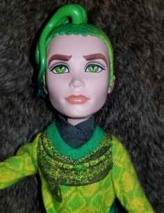 Duece Gorgon doll, Comes fully clothed. Does not come with stand Has slight glue residue under sideburn. And slight yellowing on the other side, as you can see in the pictures. Birthday Wishes, Dolls, Disney Princess, Character, Wishes For Birthday, Puppet, Doll, Puppets, Birthday Greetings