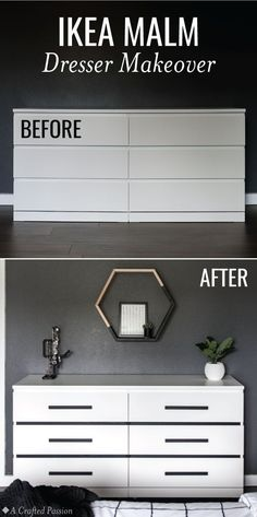 easy diy furniture ideas. Before \u0026 After: IKEA Malm Dresser Makeover. DIY Furniture Easy Diy Ideas