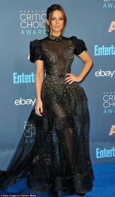 Kate Beckinsale was dressed to impress at the 22nd Critics Choice Awards, wearing a statement gown from the Reem Acra spring/summer '17 collection.