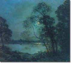 Willard Leroy Metcalf - A Summer Night, 1918