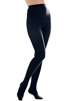4a8c031a46788 Butterfly Hosiery Women's Ladies Plus Size Queen Opaque Footed Tights  Fashion Stockings Navy Ultra soft with wide comfortable waistband Absolute  opaque ...