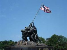 Iwo Jima Memorial  When my Dad took us to this one, he teared up.  He was a Marine Reserve, very patriotic.  Couldn't help but tear up when he would visit this place.