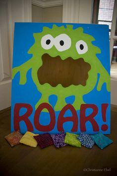 monster birthday beam bag toss/photo opp