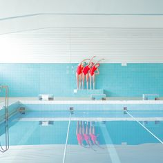 Slovakian swimming pool, by Maria Svarbova Photography Series, Color Photography, Beauty Photography, Creative Photography, Portrait Photography, Swimming Photography, Pix Art, Sculpture, Art Direction