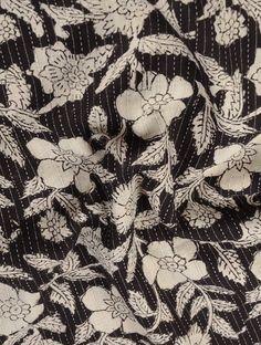 Buy Black Ivory Bagru printed Cotton Fabric Women Apparel Online at Jaypore.com