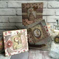 Santoro Mirabelle cards made by Maxinecrafts