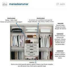 Como arrumar o seu closet ou guarda roupas?