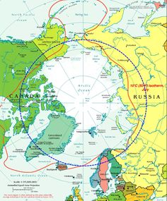 Arctic Circle Map showing seven countries with Arctic territory: Russia, Canada, USA (Alaska), Greenland, and three from Scandinavia - by Bugbog Greenland Travel, Norway Travel, Greenland Food, Greenland Iceland, Denmark Travel, Thailand Beach, Norway Places To Visit, Mozambique Beaches, Circle Map