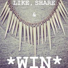Facebook winactie:  Ga naar onze Facebook pagina: http://www.facebook.com/OhSoHipNL  Like, Share en duimen maar....  Wie weet win jij dan deze spike ketting!    Actie loopt t/m 18/02/2013
