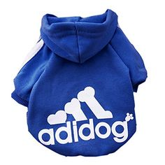 Moolecole Pet Dog Cat Sweater Puppy T Shirt Warm Hooded Coat Clothes Apparel with Colorful Pet Bell (XL, Sapphire Blue) ** Visit the image link more details.