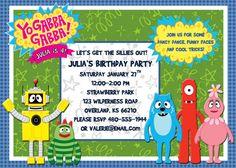 Yo Gabba Gabba Birthday Party Invitation