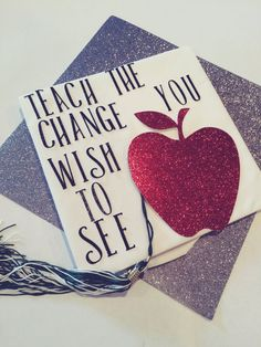 Hey, I found this really awesome Etsy listing at https://www.etsy.com/listing/286016375/graduation-cap-design-teach-the-change