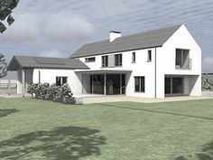 This project was conceived as a contemporary variation on the traditional 2 stor. - House Plans, Home Plan Designs, Floor Plans and Blueprints Cottage House Plans, New House Plans, House Designs Ireland, German Houses, Modern Farmhouse Plans, Modern Craftsman, Two Storey House, Ireland Homes, Roof Design